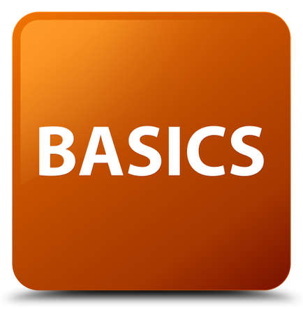 Basics isolated on brown square button abstract illustration