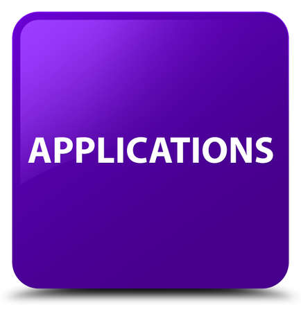 Applications isolated on purple square button abstract illustration