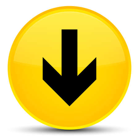 Download arrow icon isolated on special yellow round button abstract illustration Stock Photo
