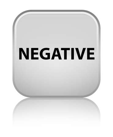 Negative isolated on special white square button reflected abstract illustration