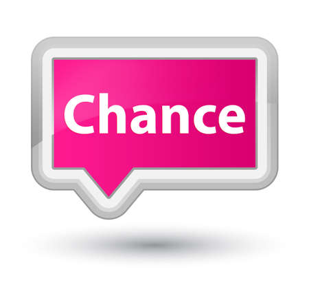 Chance isolated on prime pink banner button abstract illustration Stock Photo
