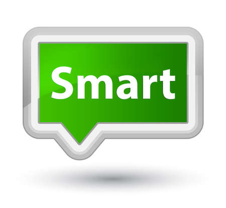 Smart isolated on prime green banner button abstract illustration Imagens