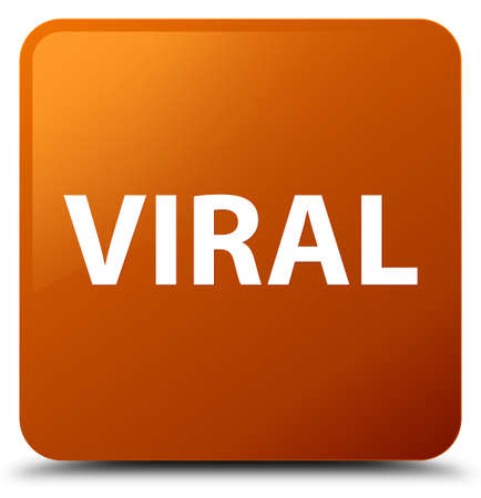 Viral isolated on brown square button abstract illustration