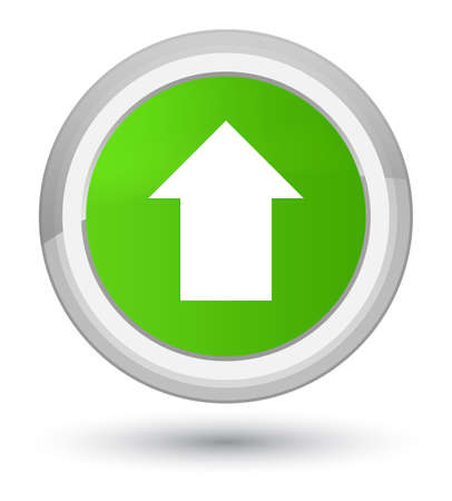 Upload arrow icon isolated on prime soft green round button abstract illustration