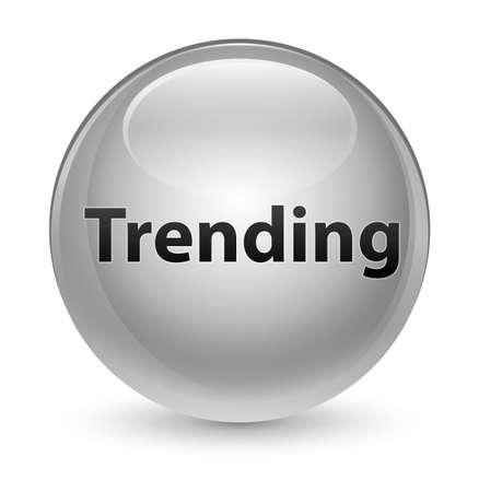 Trending geïsoleerd op glazige witte ronde knoop abstracte illustratie