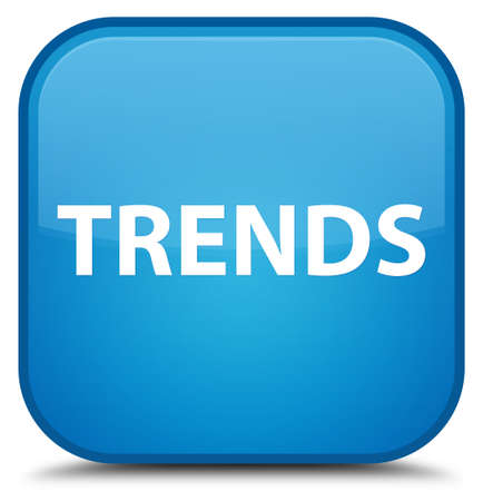 Trends isolated on special cyan blue square button abstract illustration Stok Fotoğraf