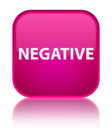 Negative isolated on special pink square button reflected abstract illustration Stock Photo