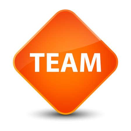 troupe: Team isolated on elegant orange diamond button abstract illustration