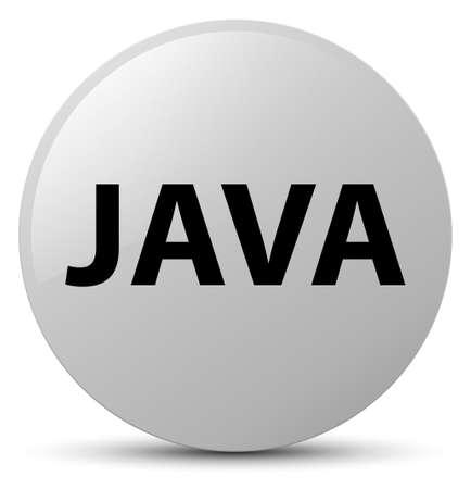 白い丸いボタンの抽象的なイラストに分離された Java 写真素材