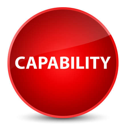 Capability isolated on elegant red round button abstract illustration
