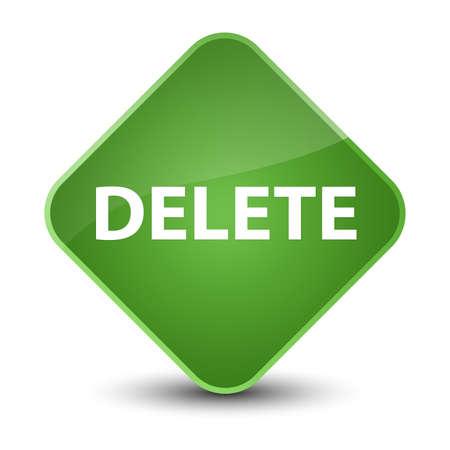 Delete isolated on elegant soft green diamond button abstract illustration Stock Photo