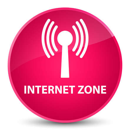 Internet zone (wlan network) isolated on elegant pink round button abstract illustration