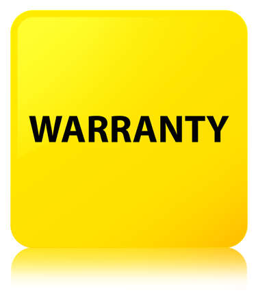 Warranty isolated on yellow square button reflected abstract illustration Stock Photo