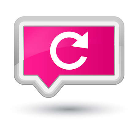 Reply rotate icon isolated on prime pink banner button abstract illustration