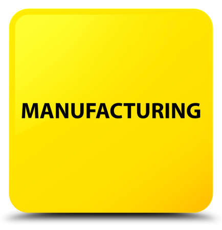 Manufacturing isolated on yellow square button abstract illustration