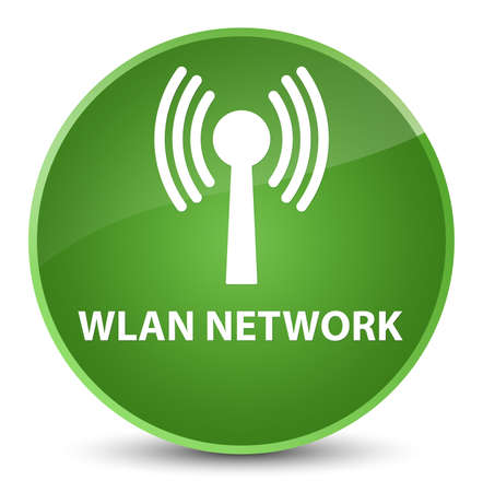 Wlan network isolated on elegant soft green round button abstract illustration