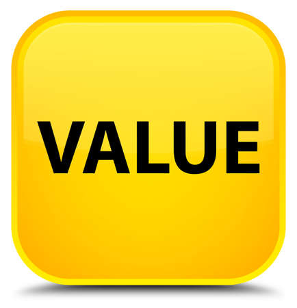Value isolated on special yellow square button abstract illustration