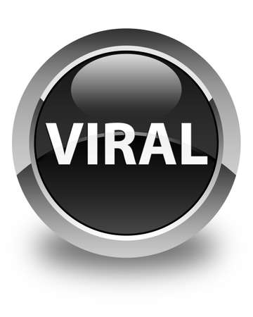 Viral isolated on glossy black round button abstract illustration