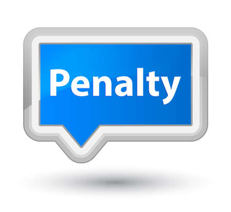 Penalty isolated on prime cyan blue banner button abstract illustration
