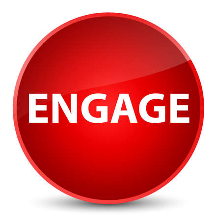 Engage isolated on elegant red round button abstract illustration Imagens - 89213213