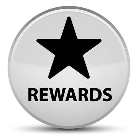 Recompensas (icono de estrella) aislado en la ilustración abstracta de botón redondo blanco especial