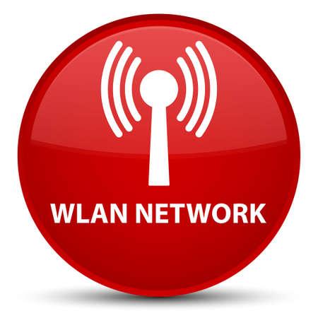 Wlan réseau isolé sur le bouton rouge spécial abstrait illustration Banque d'images - 89213560