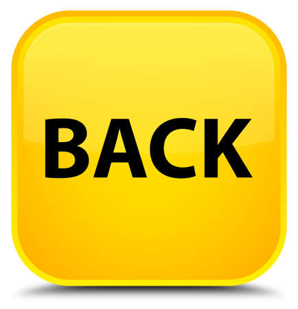 Back isolated on special yellow square button abstract illustration Stock Photo