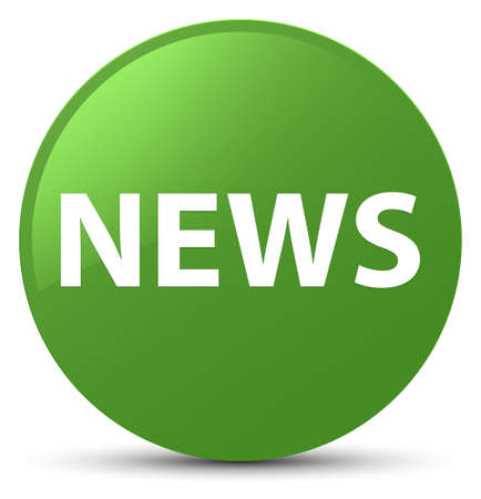 News isolated on soft green round button abstract illustration
