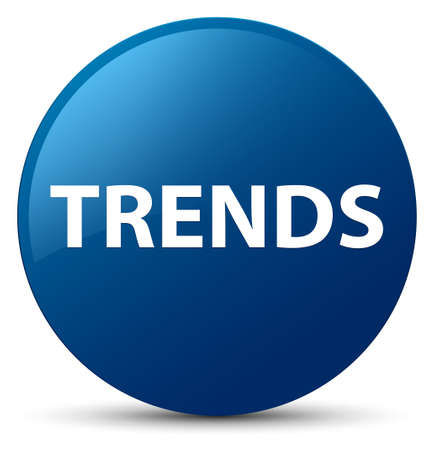 Trends isolated on blue round button abstract illustration 스톡 콘텐츠
