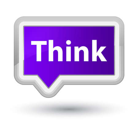 Think isolated on prime purple banner button abstract illustration