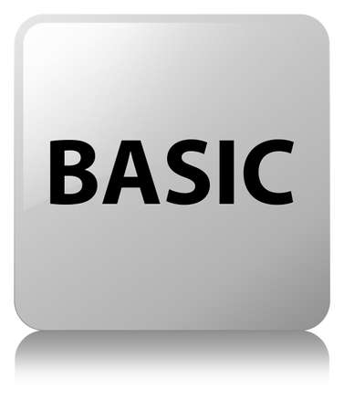 Basic isolated on white square button reflected abstract illustration Фото со стока
