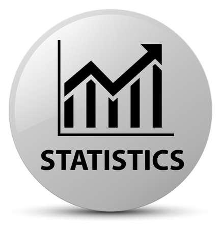 Statistics isolated on white round button abstract illustration Stock Photo