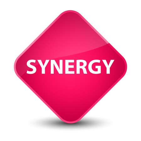 Synergisme op de elegante roze abstracte illustratie die van de diamantknoop wordt geïsoleerd