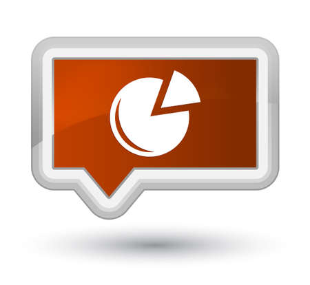 Graph icon isolated on prime brown banner button abstract illustration Stock Photo