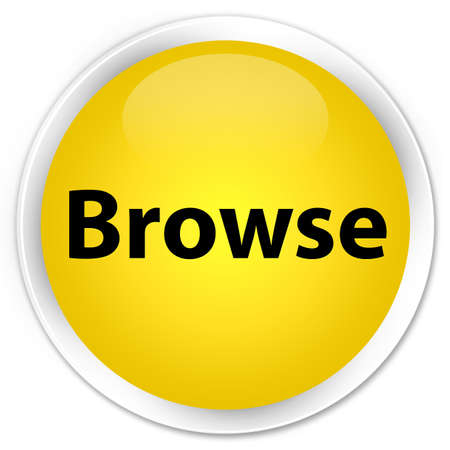 Browse isolated on premium yellow round button abstract illustration
