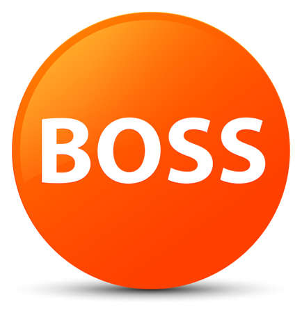 Boss isolated on orange round button abstract illustration