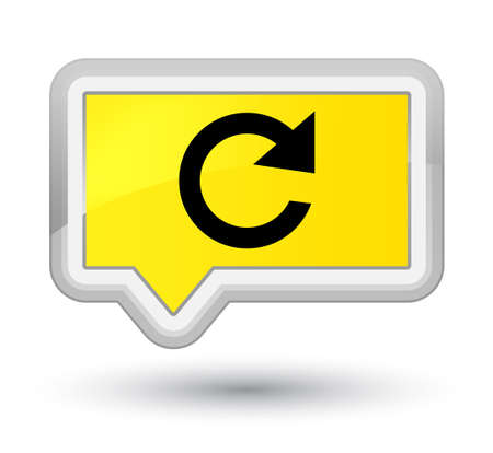 Reply rotate icon isolated on prime yellow banner button abstract illustration Stok Fotoğraf - 89331060