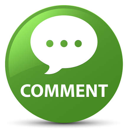 Comment (conversation icon) isolated on soft green round button abstract illustration Stock Photo