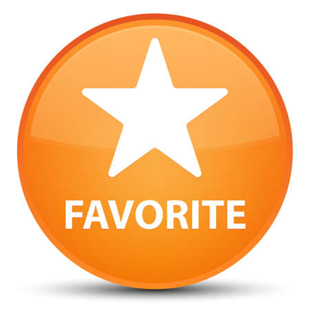 Favorite (star icon) isolated on special orange round button abstract illustration