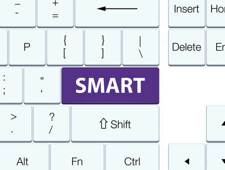 Smart isolated on purple keyboard button abstract illustration Imagens - 89331677