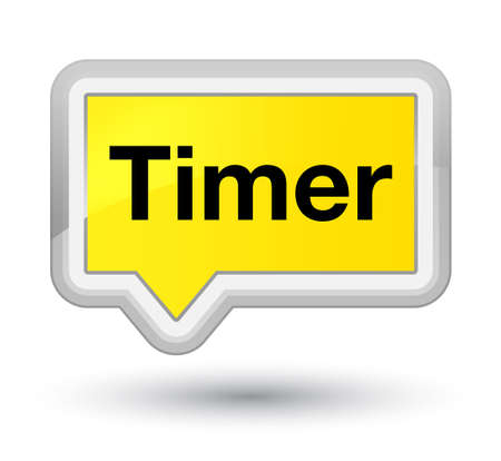 Timer isolated on prime yellow banner button abstract illustration Stock Photo