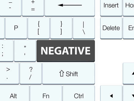 Negative isolated on black keyboard button abstract illustration