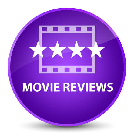Movie reviews isolated on elegant purple round button abstract illustration