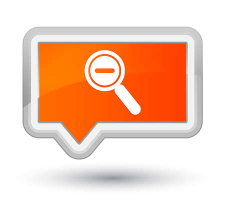 Zoom out icon isolated on prime orange banner button abstract illustration