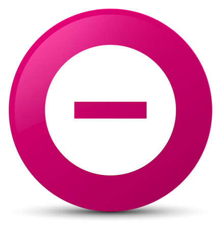 Cancel icon isolated on pink round button abstract illustration