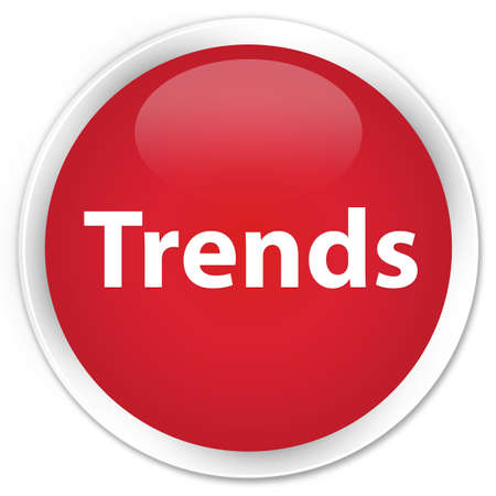Trends isolated on premium red round button abstract illustration