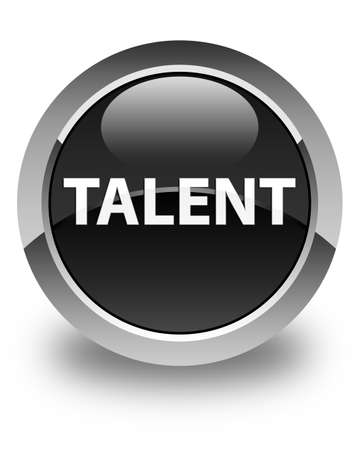 Talent isolated on glossy black round button abstract illustration Stock fotó