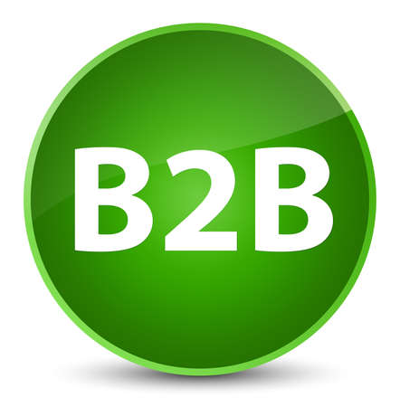 b2b: B2b isolated on elegant green round button abstract illustration