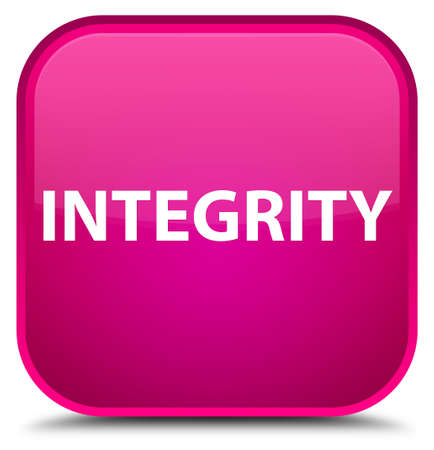 Integrity isolated on special pink square button abstract illustration