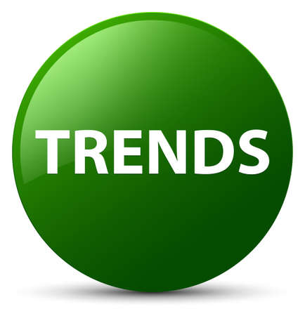 Trends isolated on green round button abstract illustration